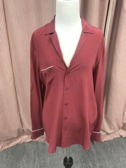 Equipment Silk Shirt Keira Size M Pinot Noir
