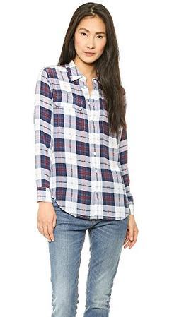 Equipment Women's Slim Signature Blouse, Luxe Multi, Medium