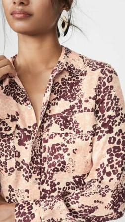 Equipment Slim Signature Floral Multi Button Down Shirt Blou