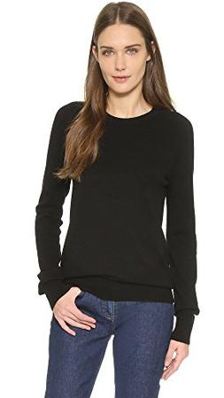 Equipment Women's Sloane Cashmere Crew Neck Sweater, Black,