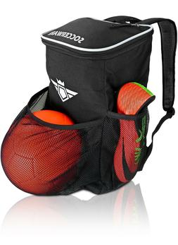 Soccer Backpack with Ball Holder Compartment - Kids Soccer B