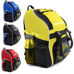 Soccer Backpack with Ball Holder Compartment - for Boys & Gi