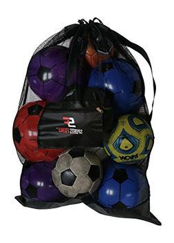 Extra large Soccer Ball Bag Heavy Duty Sports Mesh Bag Durab