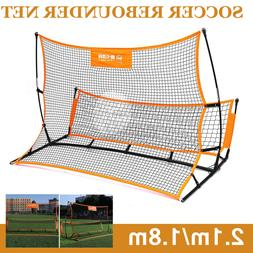 Soccer Trainer Rebound Net Football Folding Equipment w/Bag