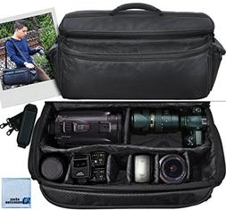 Extra Large Soft Padded Camcorder Equipment Bag / Case For C