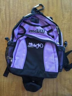 wilson softball equipment bag girls purple never used back p