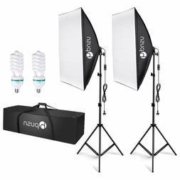 Softbox Lighting Kit Professional Studio Photography Continu