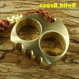 Solid Brass Skull Outdoor EDC Tactical survival escape tool