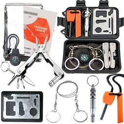 SOS Emergency Tactical Survival Equipment Kit Outdoor Gear C