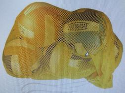 Sports Equipment Mesh Storage Bag Basketball Soccer GOLD TAG