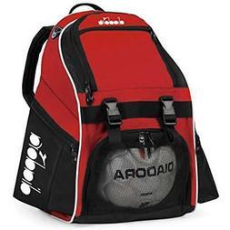 Diadora Squadra Soccer Backpack, Red, Black, OS