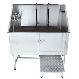 """Flying Pig Grooming 50"""" Stainless Steel Pet Dog Bath Tub wit"""