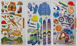 STICKO  Assorted STICKERS Choice Scrapbooking SPORTS FISHING