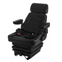 VEVOR Suspension Seat Adjustable Backrest Headrest and Slide