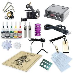 Tattoo Kits 1 Machine Gun Set Equipment Power Supply with ta