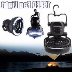 Tent Fan Light LED Camping Hiking Headlamp Gear Equipment Po