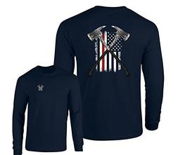 Thin Red Line Firefighter Long Sleeve T-Shirt Fire Axes US F