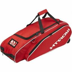 Worth Tournament Baseball/Softball Wheel Bag, Scarlet