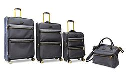 Adrienne Vittadini Two-Tone Nylon Luggage Set