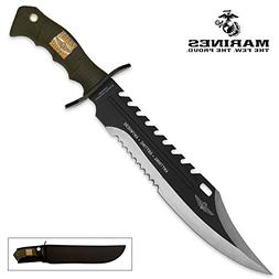 9001022 United Cutlery Marine Force Recon Sawback Bowie Knif