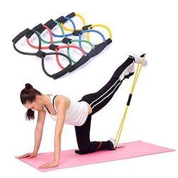 Kasstino 4PCS Useful Fitness Equipment Tube Workout Exercise