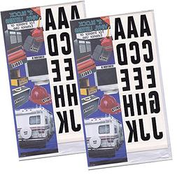 2 set of 99-Pcs 2-inch Vinyl Sticker Letters Self Adhesive B