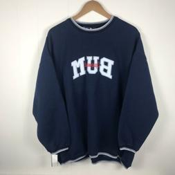 VTG BUM Equipment Printed Spellout Crewneck Sweatshirt B.U.M