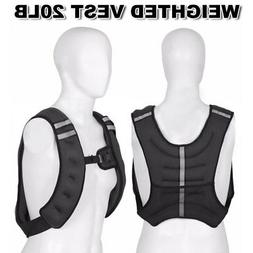 Weighted Vest Workout Equipment 20lbs Body Weight for Men an