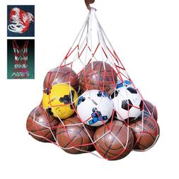 white-red lattice cord basketball sports ball mesh net ball