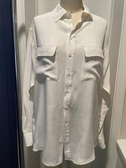 Equipment White Size Small Oversized Blouse