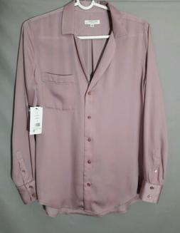 Equipment womens small KEIRA button down shirt light mauve p