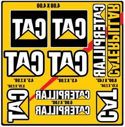 WOW! NEW!10 STICKERS Caterpillar CAT Vinyl Decals Logo Equip