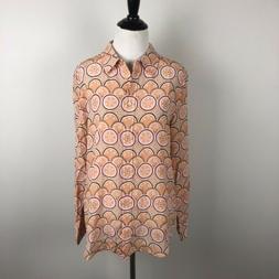 EQUIPMENT X KATE MOSS Blouse Silk Long Sleeve Geometric Wome
