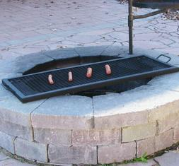 Sunnydaze X-Marks Fire Pit Cooking Grill Grate, Outdoor Rect