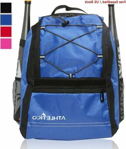 Athletico Youth Baseball Bag - Backpack for Baseball, T-Ball