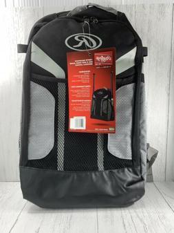 Rawlings Youth Baseball Softball Backpack Bag Black 2 Bats E