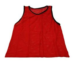 Workoutz Youth Red Soccer Pinnies  Cheap Scrimmage Vests Mes